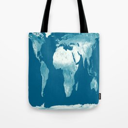 World Map Teal Tote Bag