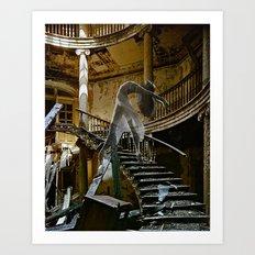 Daydream in Stairway West Art Print