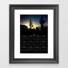 Alpine Sunset Calendar Framed Art Print