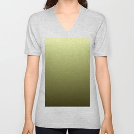 Yellow Olive Green Backgrund Unisex V-Neck