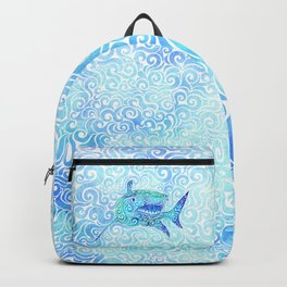 Swirly Shark Backpack