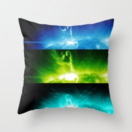 Solar Flare Rainbow Throw Pillow