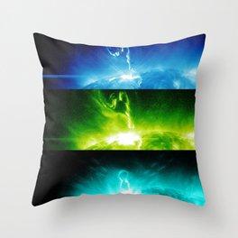 Solar Flare Rainbow Throw Pillow