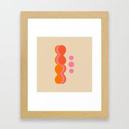 Uende Sixties - Geometric and bold retro shapes Framed Art Print