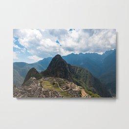 The mountainous setting of Machu Picchu Metal Print