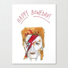 Bowie birthday card Canvas Print
