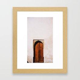 Door at La Alhambra 2 Framed Art Print