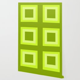 Lime Green Square Design Wallpaper