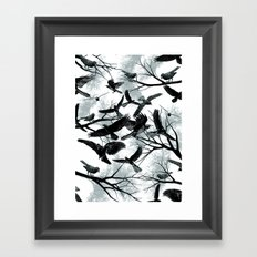 Blackbirds Framed Art Print