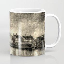 Westminster At Night Art Vintage Coffee Mug