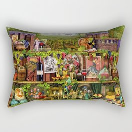 The Poetry of Wine Rectangular Pillow
