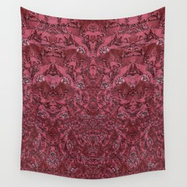 Deep Coral Terracotta Dimensional Pattern Wall Tapestry