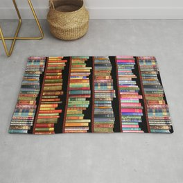 Book Lovers Gifts, Antique bookshelf Rug