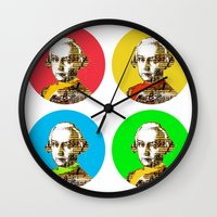 mozart Wall Clocks featuring Mozart Kugeln 4c by Marko Köppe