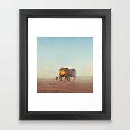 OLD FRIEND (everyday 12.20.15) Framed Art Print