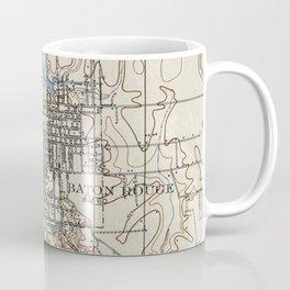 Vintage Map of Baton Rouge Louisiana (1906) Coffee Mug