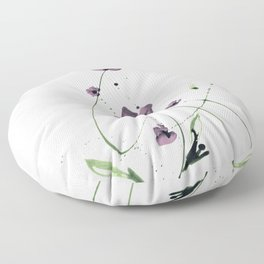 Roseate Jewels No.12i by Kathy Morton Stanion Floor Pillow