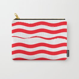 stripes. red. wave Carry-All Pouch