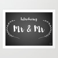 Introducing Mr and Mr Art Print