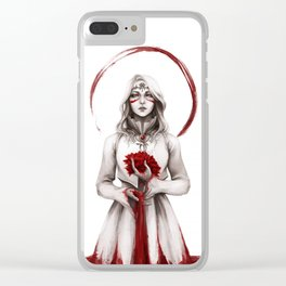 Blood for the Blood Lily - FFXIV (Alt. Version) Clear iPhone Case