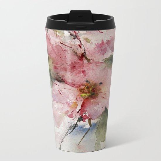 flowers from Arcen Metal Travel Mug