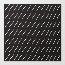 Dark Chocolate Slash Geometric Pattern Canvas Print