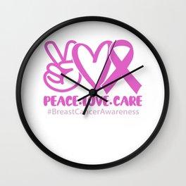 Brustkrebs Bewusstsein für alle, die Pink tragen Wall Clock