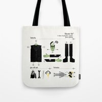kit king Tote Bags featuring Monster Kit by Graham Dobson
