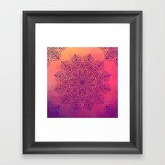 Happy Mandala Framed Art Print