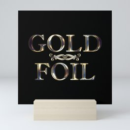 Sculpted Gold Foil Mini Art Print