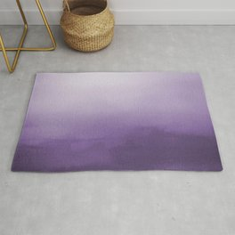 Inspired by Pantone Chive Blossom Purple 18-3634 Watercolor Abstract Art Rug
