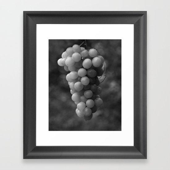 Harvest time - B&W 8508 Framed Art Print