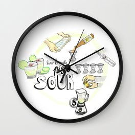 Pisco sour Wall Clock