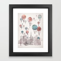 Voyages Over San Francisco Framed Art Print