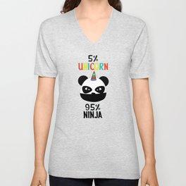 Unicorn Ninja Panda Unisex V-Neck