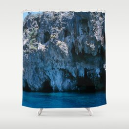 NATURE'S WONDER #4 - BLUE GROTTO #art #society6 Shower Curtain