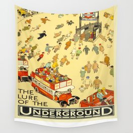 Vintage poster - London Underground Wall Tapestry