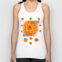 dahlia Tank Tops featuring Dahlia by Art-Motiva