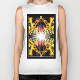 Golden ornament. Biker Tank