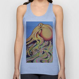psychedelic octopus Unisex Tank Top