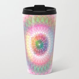 Orb mandala 1 pastel color Travel Mug