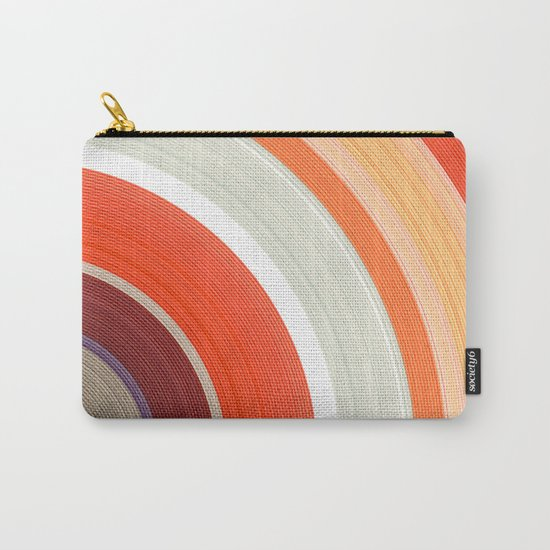 Shades of Orange Rings Carry-All Pouch
