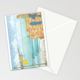 Beach in my Backyard - watercolour print 2 Stationery Cards