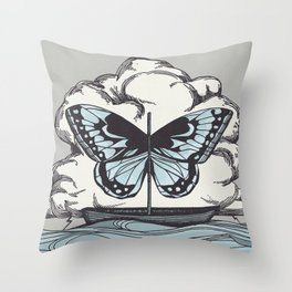 Butterfly Boat - We Are Not Troubled Guests Throw Pillow