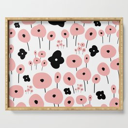 Pink Poppies Serving Tray