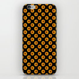 90s Black and Yellow Daisies iPhone Skin