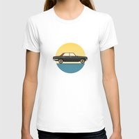 mercedes T-shirts featuring Mercedes 200 at Sunset by chucklehound