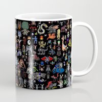 digimon Mugs featuring DigiPixels by Dull Work