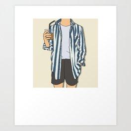 Stripes Boy - OOTD - Fashion Art Art Print