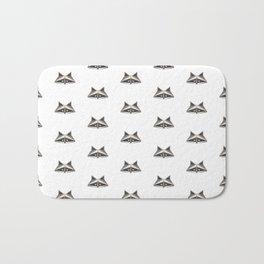 Raccoon Minimalist Pattern Bath Mat